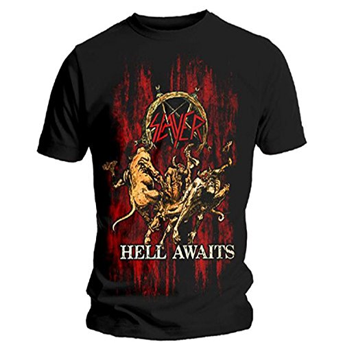 T-Shirt # Xl Black Unisex # Hell Awaits
