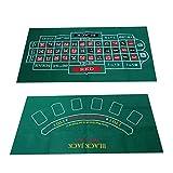 Alfombrilla de juego de doble cara, ruleta de blackjack, ruleta de lujo grande adecuada para juegos de mesa para adultos, alfombrilla de juego de diseño de doble cara