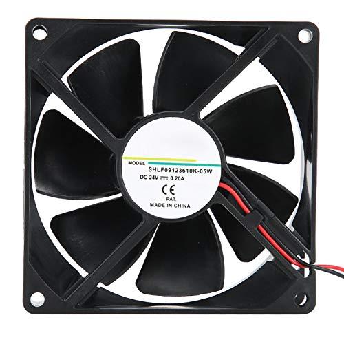 Ventilador de enfriamiento ASHATA, disipador de calor, ventilador de enfriamiento de bolas dobles de 24 V y 0,20 A para convertidor de frecuencia/máquina de soldadura eléctrica, ventilador de
