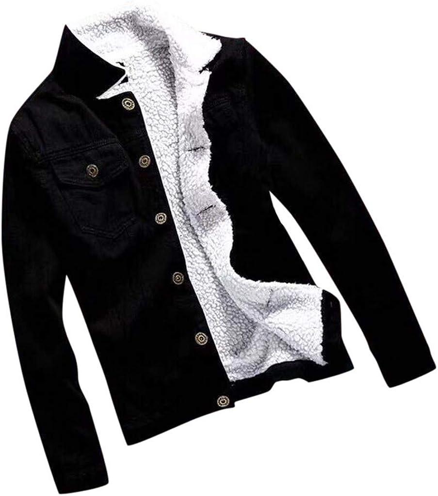 SOMESHINE Womens Coat Loose Fit Long Sleeve Vintage Denim Thick Jacket Light Wash Faded Ripped Boyfriend Jean Jacket