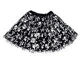 FEOYA - Falda de Tutu Corta para Niñas Estampado Brillante Cintura Elástica para Halloween Fiesta - 50-80 cm
