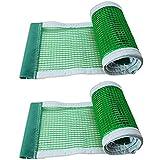 SJTJA Red de tenis de mesa de poliéster de 2 piezas de red de tenis de mesa retráctil de ping pong de repuesto de red de accesorios de tenis de mesa
