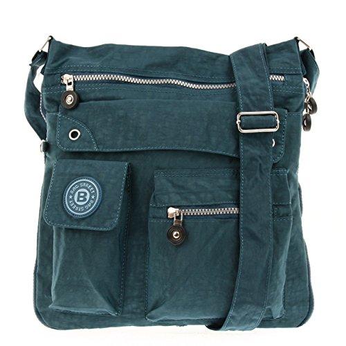Bag Street Umhängetasche Bodybag Crossbag Nylon blau