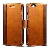 iphone6s ケース 手帳型 iphone6ケース 手帳 Rssviss 高級PUレザー 財布型 アイフォン6sケース カバー カード収納 マグネット スタンド機能 W3 ブラウン iPhone6 6s対応 4.7inch