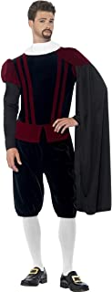 Mens Tudor Lord Earl Shakespeare Historical Fancy Dress Costume Outfit M & L