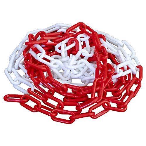 Chaîne en plastique résistant 5 m Rouge Blanc