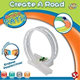 Flipo Bend a Path Toy Vehicle Playset Accessory - 360 Loop-de-Loop Clear Track Expansion Pack with Green SUV and Batteries