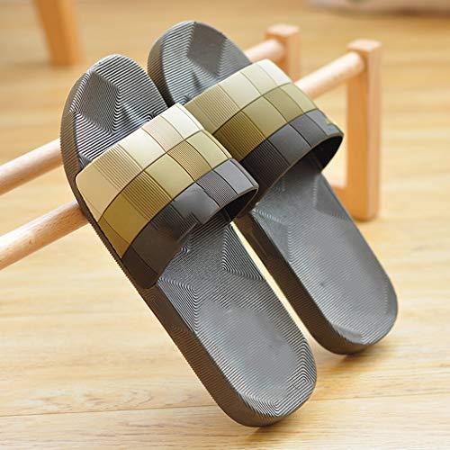 zxb-shop Chanclas Sandalias y el Verano Interiores Baño Bañera Antideslizante Suave Pareja Inferior Zapatos Desodorante Cuidado Zapatillas de Verano Principal Hombres Zapatillas casa (Size : 42)