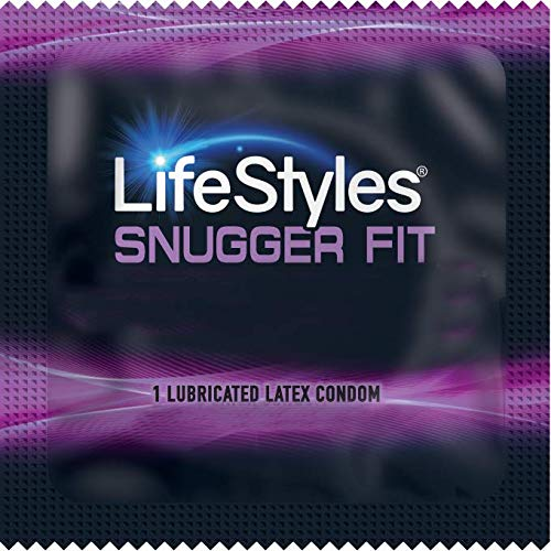 Lifestyles Snugger Fit with Brass Lunamax Pocket Case, Tighter Fit Latex Condoms-24 Count