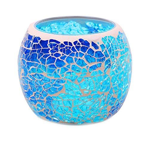 Kepfire Mosaik Glas Kerzenhalter Zuhause Party Weihnachten Dekorativ Kerzenständer Handgemacht Teelichthalter Leuchter Vase - Stil C