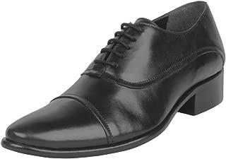 Salt N Pepper Senator Black Real Leather Men Formal Shoes