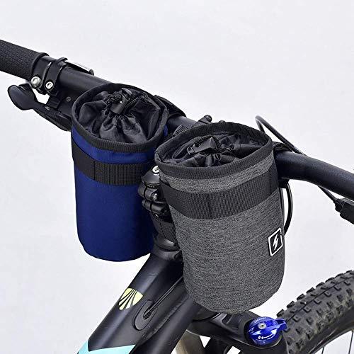 GOHHK Sacs Cadre vélo pour vélos, Support Bouteille d'eau vélo Sac Tige isolé Cages Bouteille d'eau vélo Fixation Guidon Porte-gobelet Rangement pour Poussette vélo Montagne (2 pièces)