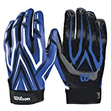 Wilson The Clutch Skill American Football Receiver Handschuhe - blau Gr. M