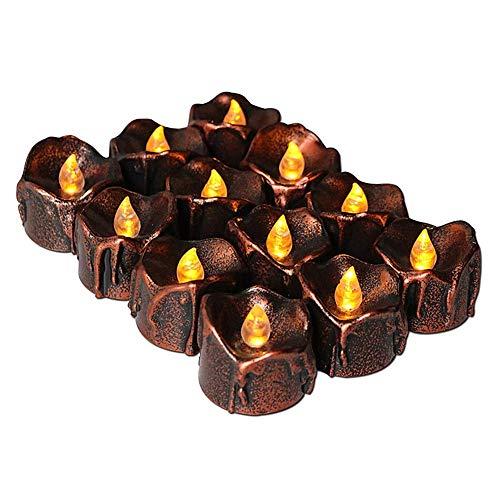 DealMux velas eléctricas parpadeantes velas led llama parpadeante candelitas eléctricas vela candelita batería velas parpadean velas eléctricas