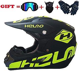 IKHNGLE DOT Outdoor Adult Full Face MX Helmet Motocross Off-Road Dirt Bike Motorcycle ATV M