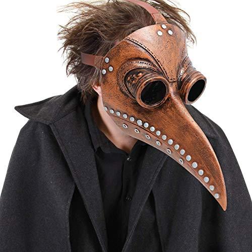 S$S Maske – Lange Nase Vogel Schnabel Steampunk Halloween Kostüm Requisiten Maske perfekt für Fasching, Karneval & Halloween - für Erwachsene