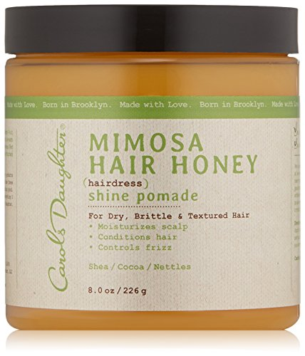 Carol's Daughter Mimosa Hair Honey Shine Pomade For Dry Hair and Textured Hair, with Shea Butter and Cocoa Butter, Paraben Free Hair Pomade, 8 fl oz (Packaging May Vary)