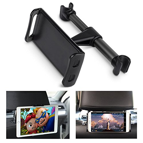 ECOEMO Car Headrest Mount, Adjustable iPad Stand Car Seat Tablet Holder,Replacement for iPadPro Air Mini/Samsung Galaxy Tabs/Nintendo Switch,All 4.7 to 10.5 inch Cellphones and Tablet