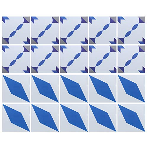FEBT Práctico Impermeable de la Etiqueta engomada del azulejo de la Pared, Etiqueta engomada del azulejo del Piso de 20x20cm, azulejo de la decoración de la Oficina de la Mejora del hogar del