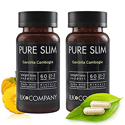 100% Garcinia Cambogia Weight Loss - Fast Acting Diet Pills That Work Fast for Women & Men - Made in USA - 60 Vegetable Capsules