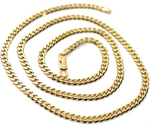 Kette Gold 750, 18K, 50 CM, GRUMETTA, GROUMETTE PIATTA, SPESSORE 3.5 MM, PIENE