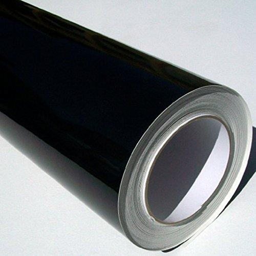 Selbstklebende PVC-Rolle, glänzend, 500x61cm, Schwarz