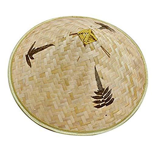 ZYCX123 Retro chinesischer Bambus Rattan Fischer-Hut handgemachte Webart-Wannen-Hut Natürliches aushöhlen Lattice Bambus-Flechten-Kappe