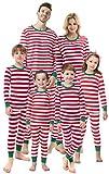 Matching Family Christmas Boys Girls Pajamas Striped Kids Sleepwear Children Clothes Women XL