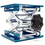 OESS Lift Table Lab Stand Lifter Scientific Scissor Lifting Jack Platform 8''X 8'' Aluminium Oxide