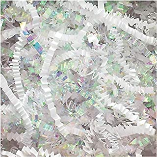 Crinkle Cut Paper Shred Filler (1 LB) for Gift Wrapping & Basket Filling - Diamond White | MagicWater Supply