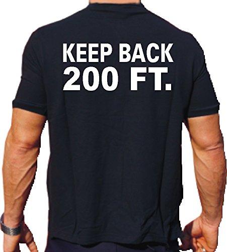 Feuer1 T-Shirt « Keep Back – 200 FT. » avec logo New York sur la poitrine XL Schwarz