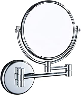 Bathroom Mirror 3X Magnification + Normal Double-Sided Wall Mounted Vanity Mirror Swivel, Extendable and Chrome Finished