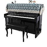 Yaunli Piano Cover Piano Antiguo Piano Vertical Cubierta de Toallas Piano Medias de la Cubierta de Encaje de Estilo Europeo for Electric Cubierta de Piano Regulable (Color : Azul, Size : 90x200cm)