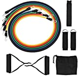 Yoga Fitness Pull Rope 11pcs / Set Pull Rope Fitness Ejercicios Bandas de resistencia Tubos de látex Pedal Excerciser Body Training Workout