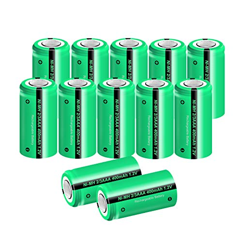 wiederaufladbare schnurloses Festnetztelefon, Batterien 1,2 V 400 mAh 2/3AAA Akku 12 Stück