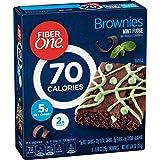 Fiber One Brownies, 70 Calorie Bar, 5 Net Carbs, Snacks, Mint Fudge, 6ct