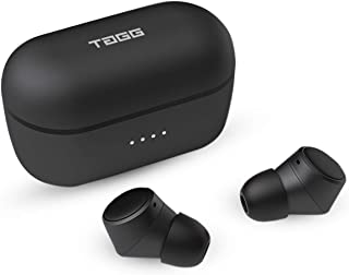 TAGG Liberty-X True Wireless Earbuds - Bluetooth 5.0 || Stereo Sound with Deep Bass || Built-in Mic || Multi-Function Button || 35 Hours Playtime with Charging Case - Black