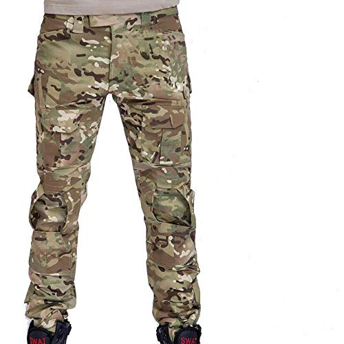 Herren Shooting BDU Combat Hose Hose mit Knie Pads Multicam MC für Tactical Military Armee Airsoft Paintball Medium Multicam