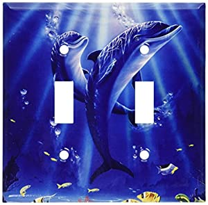 Sunlit Dolphins Switch Plate