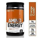 Optimum Nutrition Amino Energy, Pre Workout Booster Avec Bêta-Alanine, Cafeine, Acides Aminés et Vitamine C, Orange, 30 Portions, 270 g