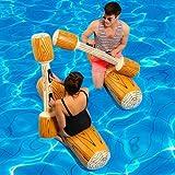 Xinke 4 Stück/Set Joust Schwimmendes Spiel für Pool, aufblasbar Wassersport, Bumper-Spielzeug für...