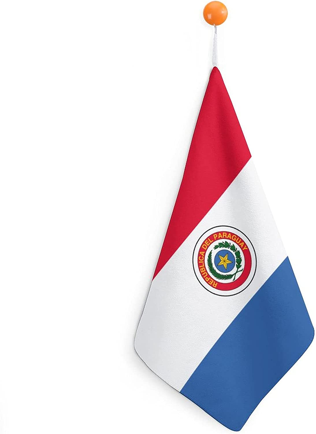 Paraguay Flag A surprise price is realized Cheap mail order specialty store Hangable Hand Towel Soft and Comfortable Microfib