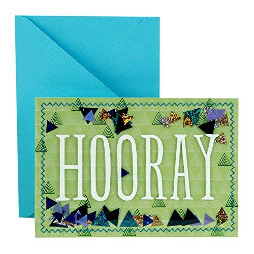 Hallmark Signature Congratulations Card or Graduation Card (Hooray Confetti)