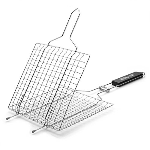 ParaCity Fish Grill Basket Nonstick BBQ Barbecue Fish Grilling Roast Basket