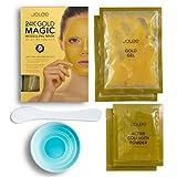 """JoLee 24K Gold Magic Modelling Gesichtsmaske [2 ANWENDUNGEN PRO PACK] Anti-Aging """"Gummi"""" Gesichtsmaske zum Abziehen mit Kollagen und 24 Karat Gold"""