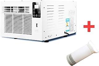 Aire acondicionado Acondicionador De Aire De Ventana Abatible De Corredera De Servicio Pesado PortáTil, Unidad De Control ElectróNico con Control Remoto Y FuncióN De SincronizacióN.