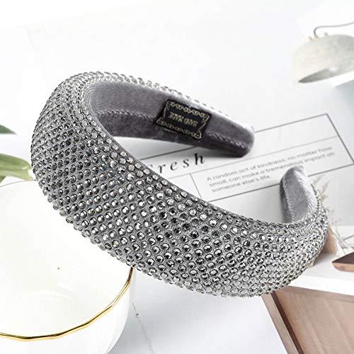 JINGMO Mode Strass Bandes De Cheveux Bandeau Européen Américain Lunette Cheveux Hoop Coiffe pour Les Femmes Éponge Cheveux Accessoires