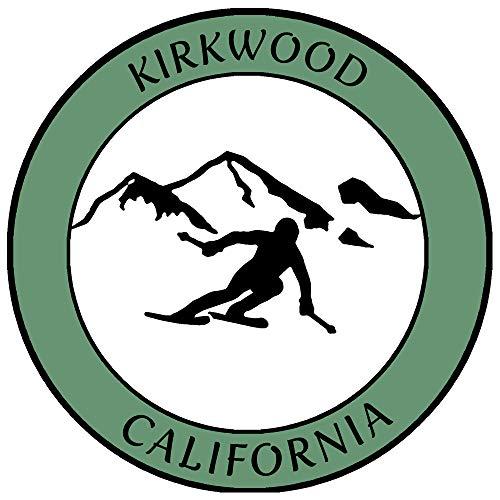 Kirkwood, California Ski Destination Decorative Car Truck Window Sticker...