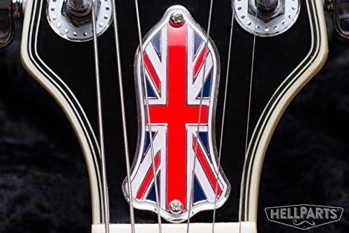ギター ロッドカバー Gibson/レスポール/SG/ES-335など 多機種に対応!100%真鍮&エナメル Hell Guitars オリジナルデザイン Union Jack カラー