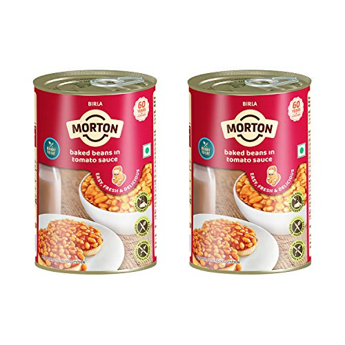 Morton Pre-Cooked Baked Beans in Tomato Sauce, 450g (Pack of 2)
